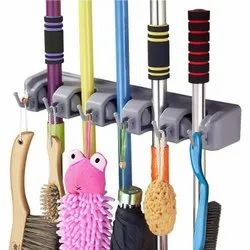 E10 Star Multicolor 5 Position Broom And Mop Holder, For Home, Size: Medium