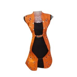 Orange and Black Ladies Fancy Long Top