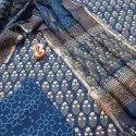 Exclusive Natural Hand Block Printed Cotton Dress Material With Kota Doria Dupatta.