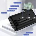 3 In 1 Built In Cable With Mobile Stand Power Bank