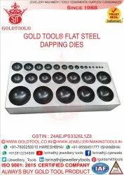 Gold Tool Steel Dapping Plate With 27 Cavities