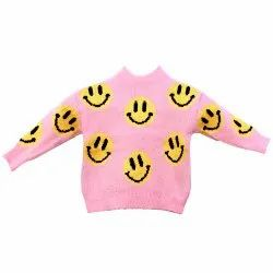 Pink and Sky Blue Girl & Boy Kids Winter Sweaters
