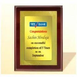 FP 10761 Golden Certificate Memento