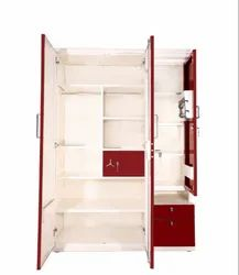 kinglong Red, White Home Dressing Steel Almirah, Size/Dimension: 54x22x78 Inch (wxdxh)