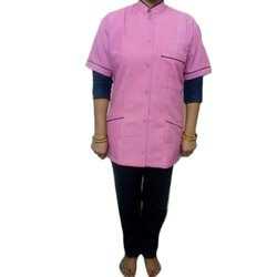 Plain Pink Half Sleeves Hospital nursing Staff Uniform