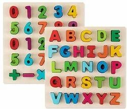 Generic Wooden Upper Case Letter and Number Learning Board Toy