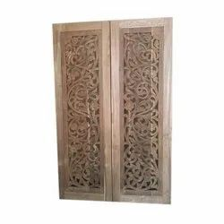 Exterior Hand Carved Teak Wood Door, For Home, Size: 36 X 60 Inch