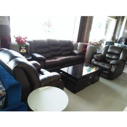 Leather Sofa Set, Living Room