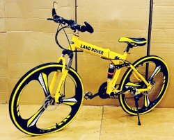 Yellow Land Rover Foldable Cycle