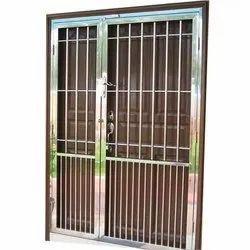 Modern Silver Rust Proof Stainless Steel Door