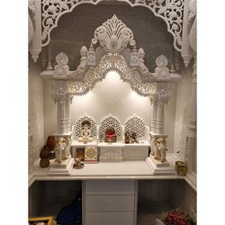 White Marble Handcrafted Temple