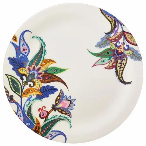 White Viva Round Melamine Full Dinner Plates Floral Eclipse 119 For Home And Hotel Size 11 Inch Rs 49 Piece Id 22668796012