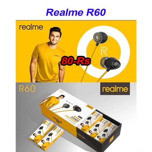 Wired Mobile Realme R60 Earphone, Unique Cases 4 U | ID: 22690003212