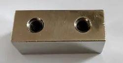 Silver Brass Square Connector