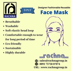 Rachna Anti Pollution Mask are washable and can be re-used