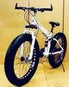 White BMW X6 Fat Tyre Foldable Cycle