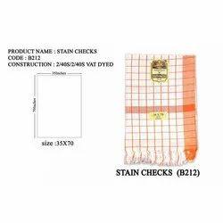 Stain Checks Cotton Towel, Rectangular, Size: 35x70 Inches