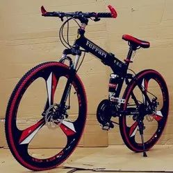 Ferrari Black Foldable Cycle