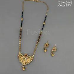 Antique Black Beads Mangalsutra
