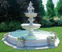 Glyptic Arts White Frp Fountain, For Decoration