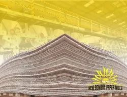 Plain natural Recycled Pulp Paper - Recycled Paper, For Corrugated Box, Packaging Type: Roll