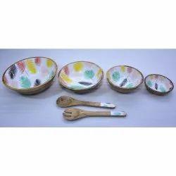 CII-804 Wooden Bowl Set