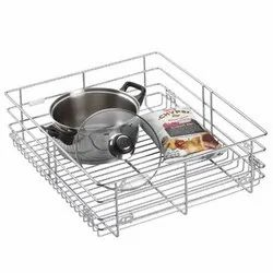 Stainless Steel Chrome Plated 6 mm Wire Plain Basket, For Kitchen, Square