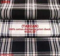 Tarzan 100% Cotton Discharge Print