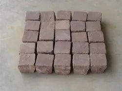 Brown Natural Sandstone Cube, For Landscaping, Thickness: 18 Mm