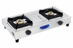 QUATTRO Two Gas Chulha 2 Burner, For Kitchen, Size: 30 Inch