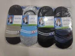 Men Printed Silicon Loafer Socks