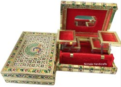 Meenakari Bangle Box Peacock Design