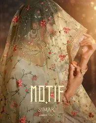 Glossy Motif Tussar Silk With Embroidery Work Salwar Kameez Catalog