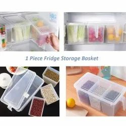 Pp Food Grade Kitchen Plastic Storage Food Container With Lid And Handle