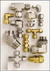 Ss Double Ferrule Compression Fittings, Size: 1/4 inch-1 inch