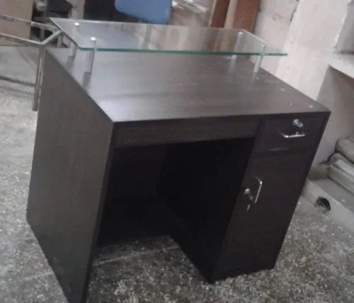 Glass Top Reception Counter with one drawer and one cabinet