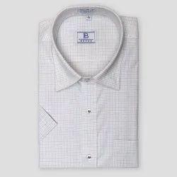 Boros Cotton Magenta Tattersall Checks Shirt, Size: XS-XL