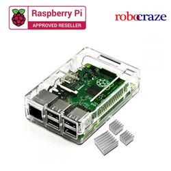 Robocraze Clear Transparent Case For Raspberry PI 3 Model B
