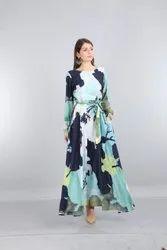 VISCOS Party Wear Maxi Dress, Wash Care: Machine wash