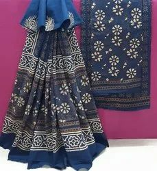 Exclusive Natural Hand Block Printed Cotton Dress Material.