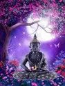 Lord Buddha Tiles Embossed Poster