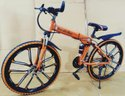 Mercedes Benz Orange 10S Foldable Cycle
