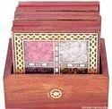 Nirmala Handicrafts Exporter Wooden Jem Chokor Tea Coaster