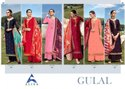 Alisa Gulal Satin Georgette With Full Diamond Hand Work Dress Material Catalog
