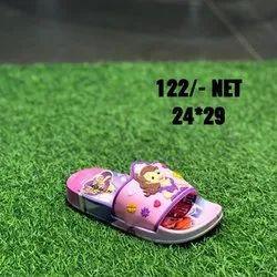 Pink Kids Printed Slipper, 24*29