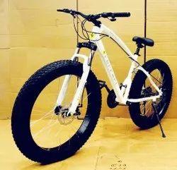 White Farrari Fat Tyre Cycle