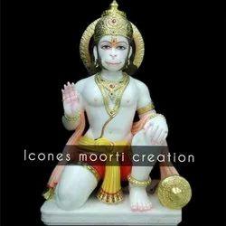 White Hanuman Ji Statue