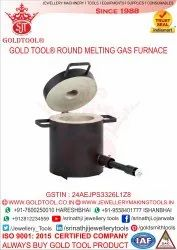 Gold Tool Round Melting Gas Furnace