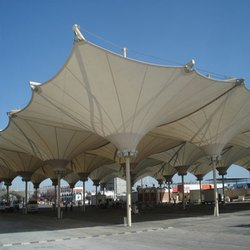 PVC-PVDF Tensile Inverted Cone Tensile Structure