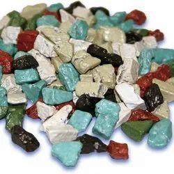 Rectangular Multicolor Stone Chocolate